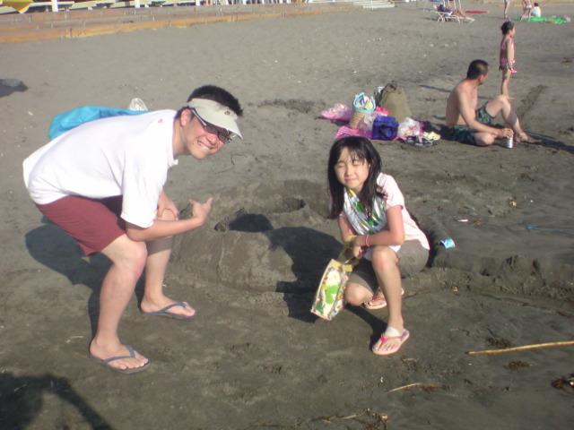 海水浴@逗子・一色海岸。